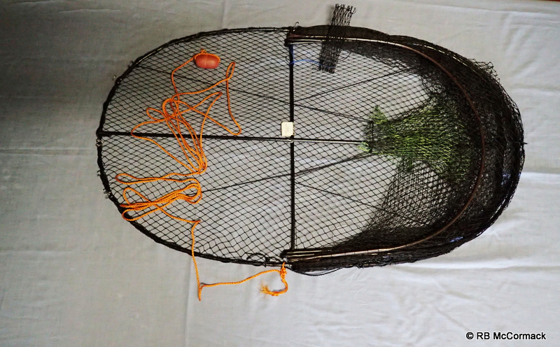 Eel trap with rope and float